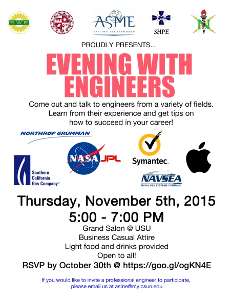 evening with engineers