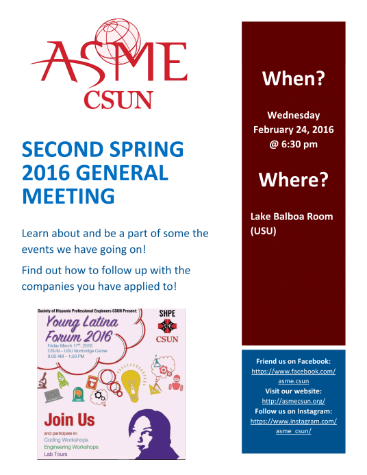 Second Spring 2016 General Meeting-1
